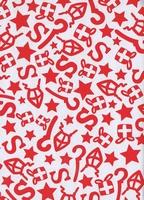 Sinterklaas Cadeaupapier - wit/rood