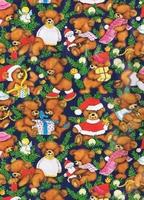 Kerst Cadeaupapier - Retro-beertjes