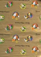 Sinterklaas Cadeaupapier - goud